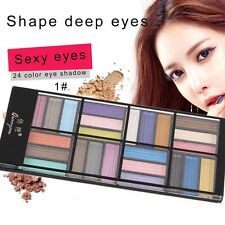 Professional 24 Colors In Palette Natural Eye Shadow Make Up Cosmetics Set LN