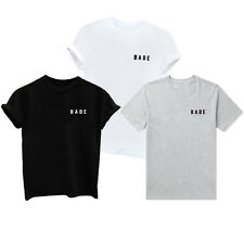 1pcs Babe Letter Fashion T-Shirt New Top Short Sleeve Casual Print Girl Women