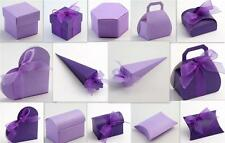 ITALIAN CADBURY'S PURPLE/LILAC SILK WEDDING FAVOUR GIFT BOXES DIY PARTY