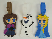 LUGGAGE LABELS DISNEY FROZEN ANNA ELSA & OLAF NAME TAGS RUCKSACKS GIFTS PRESENTS