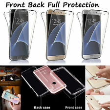 360 Degree Full Body Front Back Clear Sillicone Soft TPU Cover Case UK Stock