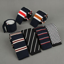 Fashion Korean Mens Stripe Tie Knit Knitted Tie Necktie Narrow Slim Skinny Woven