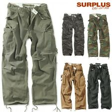 SURPLUS CARGO TROUSERS JEANS VINTAGE FATIGUES Casual Stone Washed Pants S-XXL
