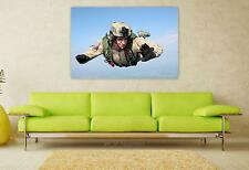 Stunning Poster Wall Art Decor Parachute Skydiving Parachuting 36x24 Inches