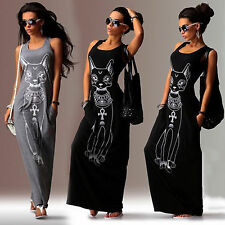 Womens Sleeveless Long Maxi Dresses Ladies Casual Summer Beach Party Sundress