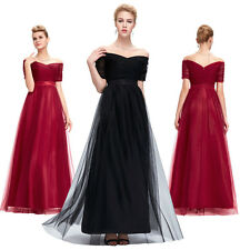 Sexy Off-Shoulder Formal Party Long Evening Dresses Bridesmaid Wedding Prom Gown
