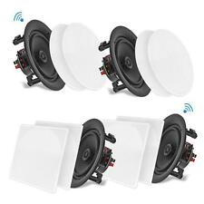 """PYLE 5 1/4"""", 6 1/2"""", 8"""", OR 10""""  (4) BLUETOOTH IN-CEILING or IN WALL SPEAKERS"""