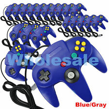 LOT Wholesale Blue Long Controller Game System for Nintendo 64 N64 USA TN