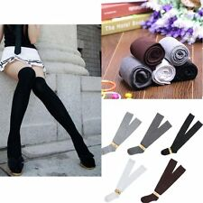 Solid Girls Ladies Long Cotton Stockings Women Thigh High Over The Knee Socks NJ