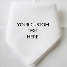 Personalised Wedding Day Your Custom Text Napkins Material Polyester Fabric