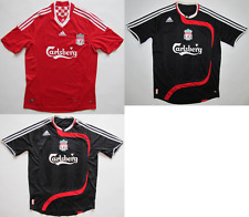 Liverpool FC 2007/08 euro 2008-10 jersey shirt camiseta soccer Adidas size S M