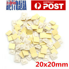 100Pcs Self Adhesive Cable Wire Zip Tie Mounts Mounting Base Clamps Clip