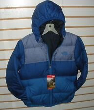 THE NORTH FACE BOYS REVERSIBLE DOWN MOONDOGGY JACKET- A2TLR- HONOR BLUE- XL