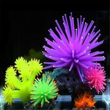 Silicone Aquarium Fish Tank Decor Artificial Coral Plant Ornament Sea Anemone
