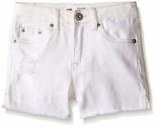 Levis Shorts Girls High Rise Distressed Denim Shorty Short 10 12 or 14 White NWT