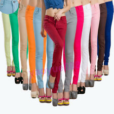 Womens Lady Casual Skinny Jeggings Pencil Pants Stretchy Leggings Jeans Trousers
