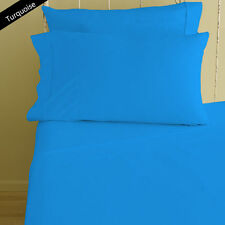 1000TC 100%Egyptian Cotton Extra Deep Pocket Bedding Items*Turquoise Select Size