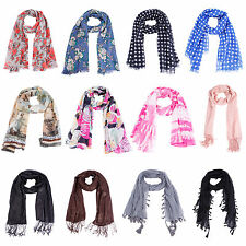 Ladies Spring Summer Soft Large Scarf Scarves Neck Wrap Shawl Beach Stole Cape