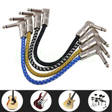 Braided 6.35mm Low Noise Electric Bass Guitar Instrument Patch Audio Cable Lead