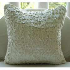 Textured Knotted Ivory Cushion Cover, Velvet 35x35 cm Cushion Cover - Snow Soft
