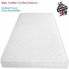Baby Toddler Cot Bed Fully Breathable Foam Mattress & Waterproof Foam QUILTED