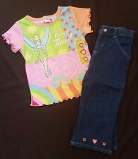 BNWT Girls Pink DISNEY TINKERBELL Top and Trousers Various Sizes