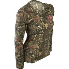 Mossy Oak Break-up Infinty Women's/Ladies Camo Long Sleeve Crew T-Shirts: S-2XL
