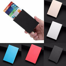 Solid Man Women Fashion Aluminum Slim Business ID Credit Card Holder Box Case US