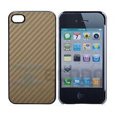 NEW IPHONE 4 / 4G - CARBON FIBRE HARD BACK & SIDE COVER / CASE - various colours