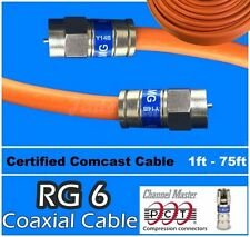 RG6 PCT F Orange 1 - 75 Ft Direct Burial Coaxial Coax Cable Satellite HD TV lot