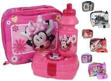3pcs Childrens Kids Lunch Bag With Bottle & 3d Sandwich Box Disney Minnie Mouse