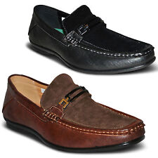 NEW Mens Smart Two Tone Boat Deck Mocassin Loafer Flat Driving Shoes Size 7-11