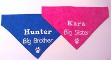 Personalized with Dogs Name BIG BROTHER OR BIG SISTER Slide On Dog Bandana