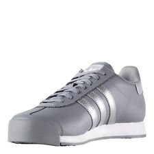 New Mens adidas Samoa Athletic Shoes Leather Sneakers Gray-Silver