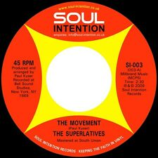 """Superlatives-The Movement / I Still Love You 7"""" 45-Soul Intention, SI-003, 2010,"""