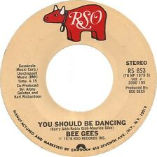 """Bee Gees-You Should Be Dancing / Subway 7"""" 45-RSO, RS 853, 1976, US Plain Sleeve"""