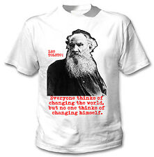 LEO TOLSTOY RUSSIAN WRITER - NEW AMAZING GRAPHIC TSHIRT- S-M-L-XL-XXL