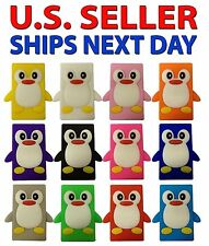 NEW - Apple iPod NANO 7th Gen Soft Silicone Case Cover skin - CUTE Penguins