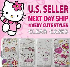 NEW - Apple iPhone 7 Very CUTE * HELLO KITTY * Soft Rubber CLEAR Case Cover skin