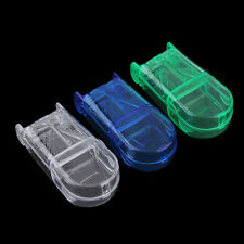 Portable Travel Medicine Pill Compartment Box Case Storage with Cutter Blade RW