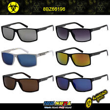 Biohazard Square Wayfarer Retro Skater Metallic Arms Men's Sunglasses 8BZ66196