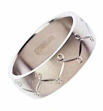 8mm Wide Titanium Wedding Band Cool Jewelry Ring