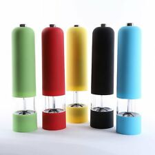 Electric/Manual Salt Spice Herb Sauce Pepper ABS Mill Grinder With LED Light