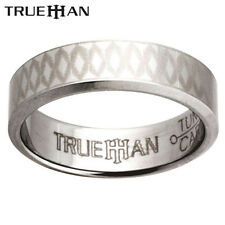 New Etched Bee Tungsten Band Trueman Carbide Mens Ring Size 8.25-13.25