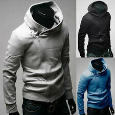 Fashion Men Assassins Creed Costume Slim Hoodie Cosplay Coat Jacket Outerwear DA