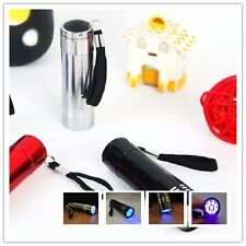 Bigsell 9 LED Aluminum Portable Flashlight Ultra Violet Torch Light Lamp P#