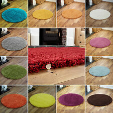 SMALL TO LARGE RUG 5CM HIGH PILE SOFT VERY THICK CIRCLE ROUND SHAGGY RUG 90x90cm