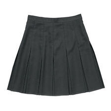 Zeco School Uniform Girls Ladies Stitched Down Box Pleat Skirt Side Zip (GS3018)