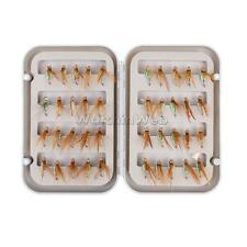 40Pcs/Box TROUT FISHING FLIES FISHING LURE HOOKS BAITS AND FLY BOX ORGNIZER