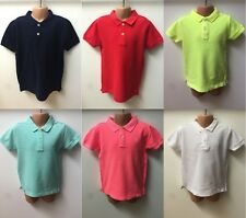 NEW Ex ZARA BOYS AND GIRLS PLAIN SHORT SLEEVE POLO TOPS TEES AGE 3 TO 14 YEARS